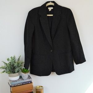 J.Crew Dark Gray Wool Boyfriend Blazer Jacket